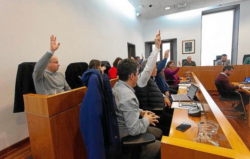 Imagen de archivo de la bancada de la oposición en Vila.