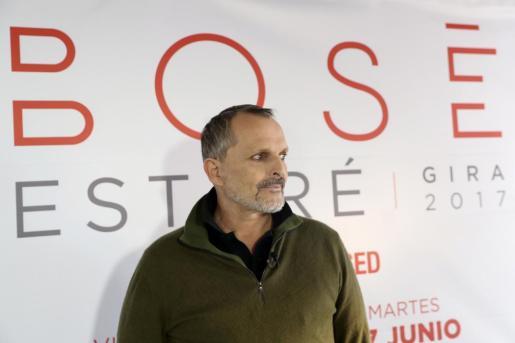 El cantante Miguel Bosé.