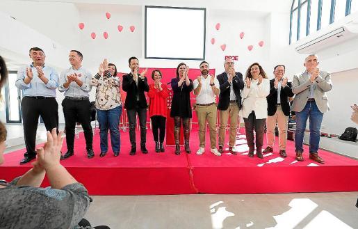 Imagen de archivo de un acto de campaña del PSOE ibicenco.