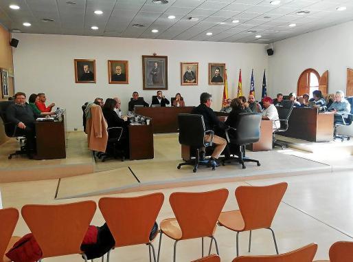 Imagen de la sesión del Pleno del Ayuntamiento de Sant Josep.