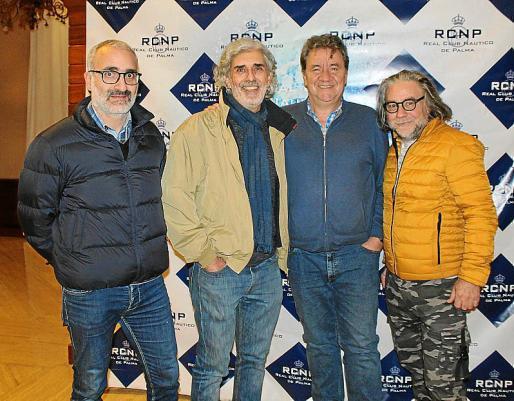 José Luis Miró, Arturo Kellner, Koldo Royo y Lolo Gardner.