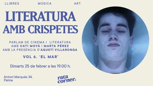 Cartel del ciclo 'Literatura amb crispetes' de Rata Corner.