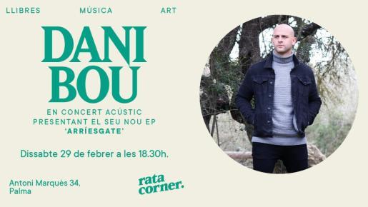 Concierto acústico de Dani Bou en Rata Corner.