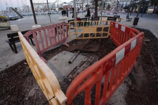 Obras en el tanque de tormentas de Ibiza