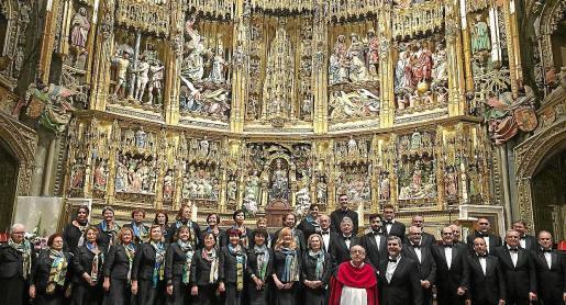 Imagen del coro de Santa Eulària en la catedral de Toledo