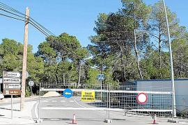 Cerrado un tramo de la carretera de Es Canar por las obras de remodelación