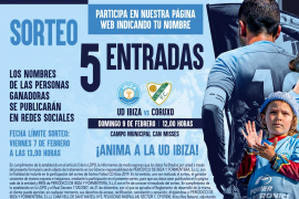 Sorteamos 5 entradas para el partido entre la UD Ibiza y el Coruxo