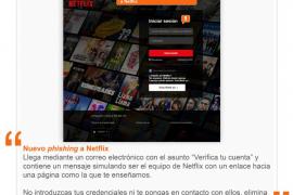 Alerta por la última estafa de 'Phishing' que suplanta a Netflix