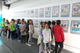 Alumnes de 5è de primària del Col. Fra Joan Ballester de Campos, varen visitar l'estadi de Son Moix i Grup Serra