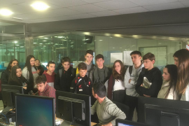 Visita escolar a las instalaciones de Periódico de Ibiza y Formentera