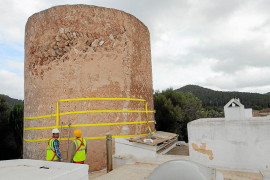 Intervención urgente en la torre de Can Curt