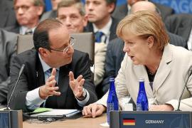 Merkel y Hollande miden hoy sus fuerzas en la cumbre de la UE