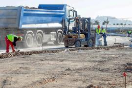 Las obras de la carretera de Santa Eulària pasan del 25% ejecutado al 51% en seis meses