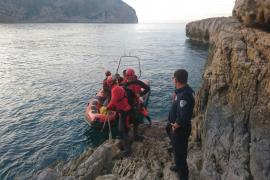 Complejo rescate de un hombre accidentado en Cala d'Albarca