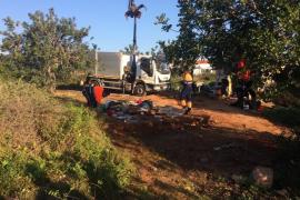 Desmantelado un asentamiento ilegal de cuatro casas en Vila