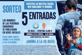 Sorteamos 5 entradas para el partido entre la UD Ibiza y el Sporting de Gijón B