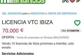 «No se pueden vender licencias VTC que no se han dado»