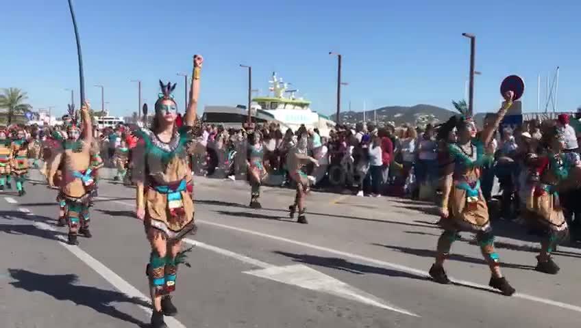La defensa del medio ambiente llega al Carnaval de Ibiza
