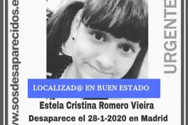Alerta desaparecidos ha informado en Twitter que la joven ha sido localizada en buen estado