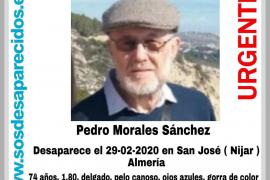 Pedro Morales Sánchez ha desaparecido en una localidad de Almería