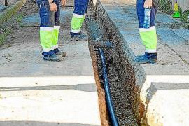 Obras de mejora de la red de suministro en el barrio de ses Païses de Sant Antoni