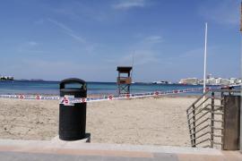 Sant Antoni cierra sus playas para combatir el coronavirus