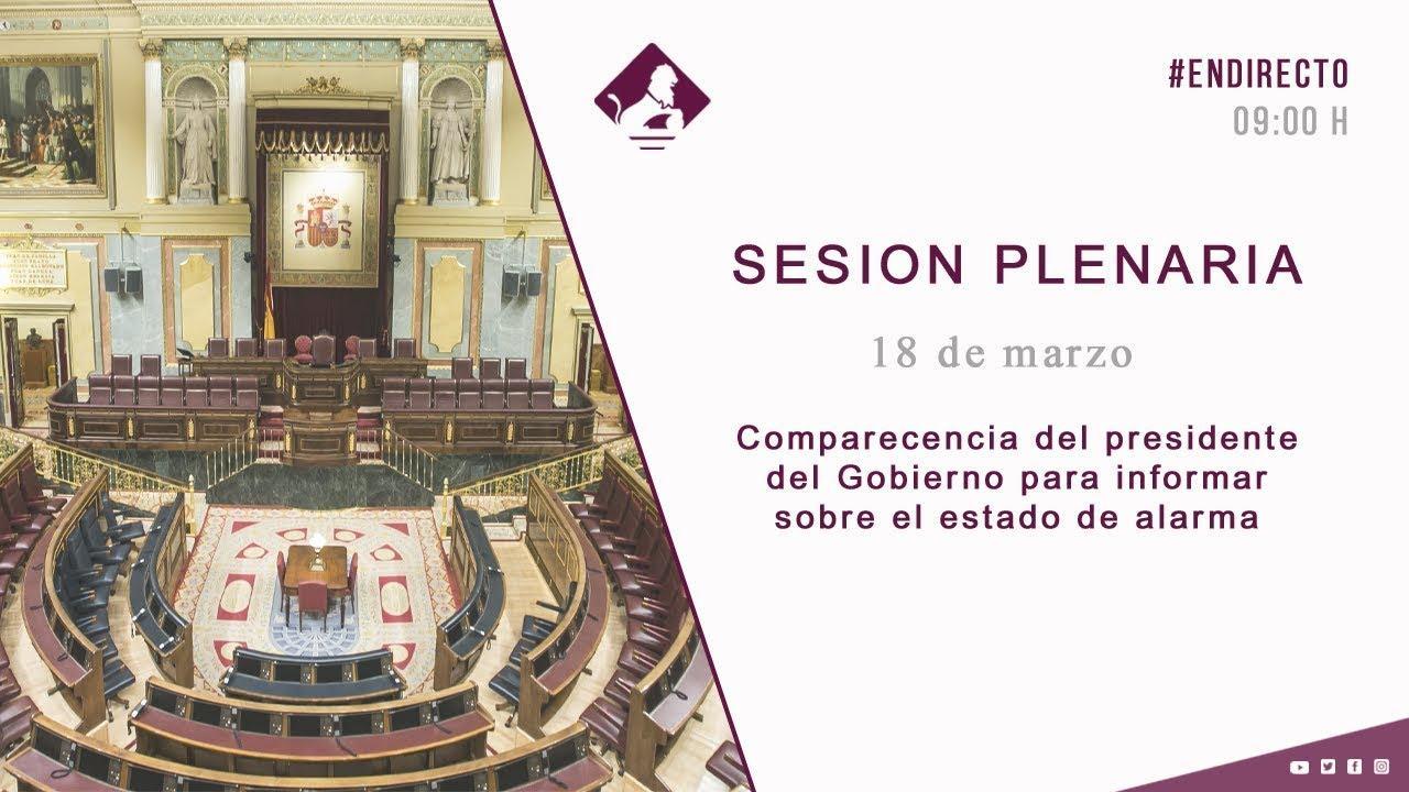 En directo | Pedro Sánchez comparece en el Congreso por el coronavirus
