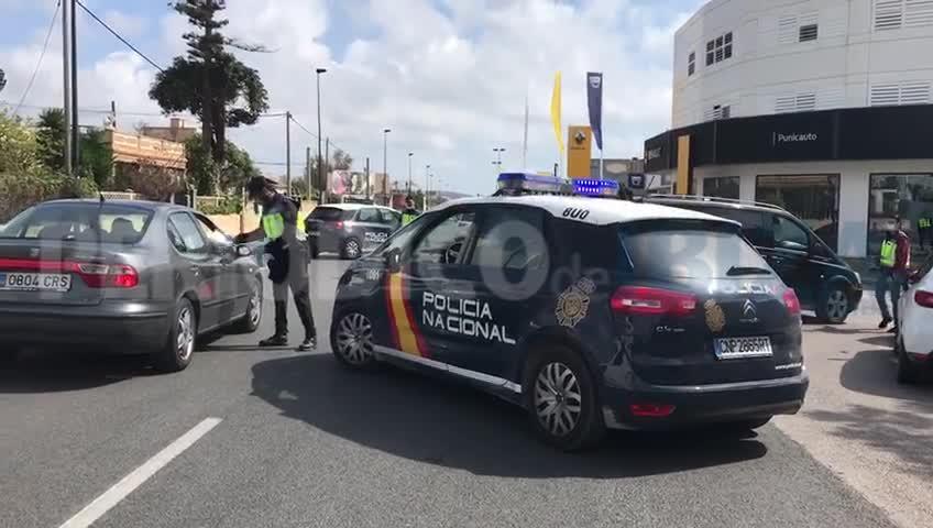 Policía y Guardia Civil multiplican los controles para garantizar el cumplimiento del confinamiento