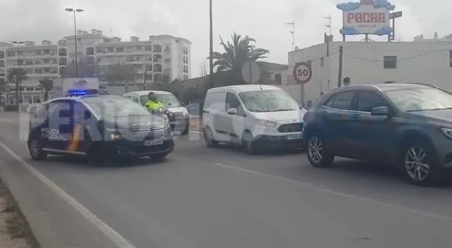 La Policía mantiene los controles en Ibiza para garantizar el cumplimiento del estado de alarma