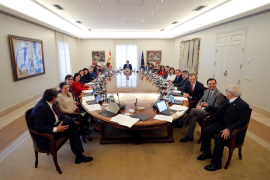 Imagen de archivo del Gobierno de Pedro Sánchez, reunido en Consejo de Ministros