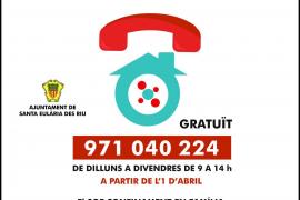 Santa Eulària impulsa el servicio telefónico 'Confinamiento en Familia'