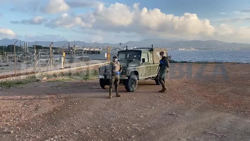 El Ejército de Tierra llega a Ibiza para vigilar el gasoducto de Sant Antoni