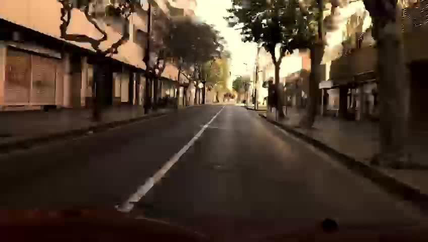 Calles vacías en Ibiza