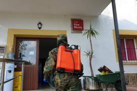 El Ejército desinfecta los centros de menores Pare Morey y Llar Mare des Remeis