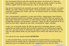 El Ayuntamiento de Ibiza autoriza al Ratoncito Pérez a visitar las casas durante el confinamiento