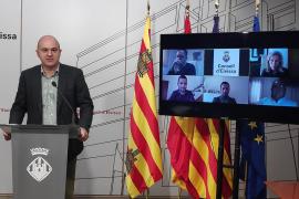 El presidente del Consell, Vicent Marí, y los cinco alcaldes de Ibiza (por videoconferencia) presentaron ayer los proyectos