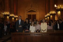 La Familia Real, en la misa de Pascua de 2019