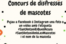 Sant Antoni organiza un concurso de disfraces de mascotas a través de Facebook e Instagram
