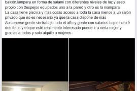 El disparatado anuncio de una habitación por 3.000 euros de entrada en Ibiza