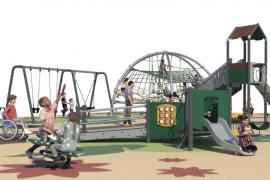 El nuevo parque infantil de Ca n'Escandell empieza a ver la luz