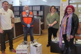 Sant Josep recibe dos donaciones de mascarillas para la protección de personal de Protección Civil, Servicios Sociales y la residencia Can Raspalls