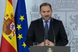 Rueda de prensa del ministro de Transportes, Movilidad y Agenda Urbana, José Luís Ábalos