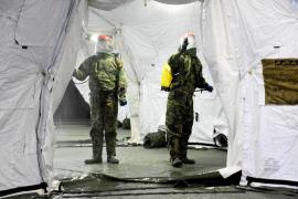 Ejército desmonta hospital de campaña de Segovia, sin uso por falta de medios
