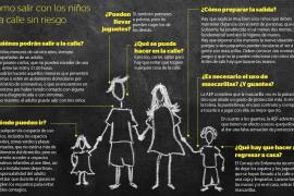 Hasta 174.000 niños de Balears salen a la calle tras 42 días de confinamiento