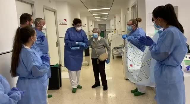 Eulària, de 76 años, supera el coronavirus tras 16 días ingresada en Can Misses