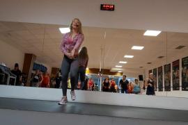 Una imagen de una clase en el gimnasio Fraile.
