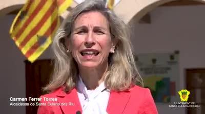 Santa Eulària da comienzo a sus Festes de Maig de forma virtual, con mensajes de su alcaldesa Carmen Ferrer en Facebook