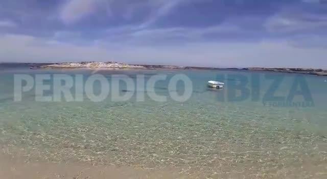 Así luce la playa de es Pujols de Formentera