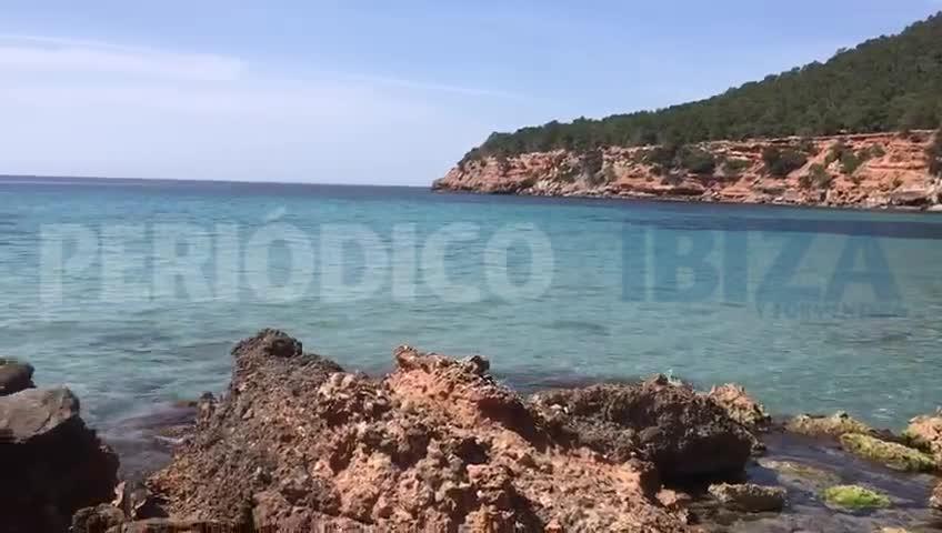 Así luce la playa de Es Bol Nou de Sant Josep