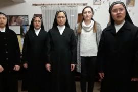 Las monjas del Monasterio de San Cristóbal de Ibiza interpretan una escena de 'Sister act'